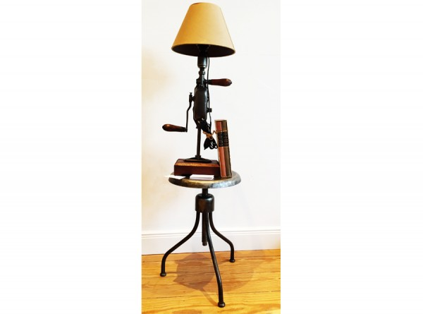 Table Lamp from Sewing Machine - Industrial Style