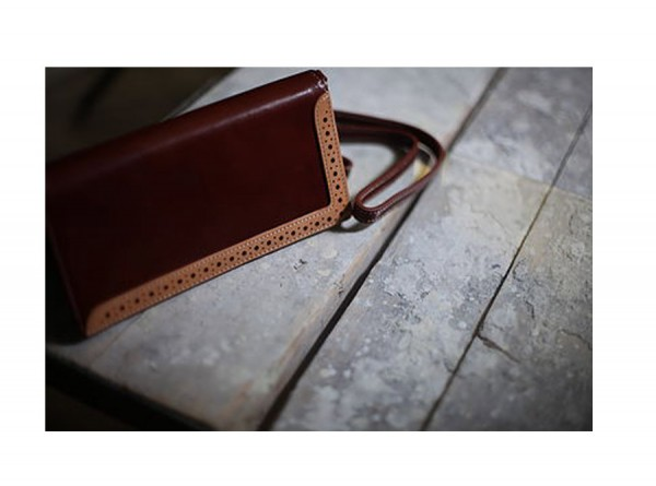 Classic Long Wallet - British Style in Brown