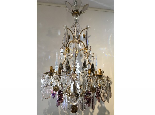 Cage Fruit Chandelier in Louis XV Style - French Antique