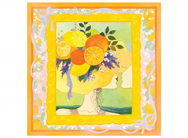 Yellow Silk Scarf Be you - You are a Treasure