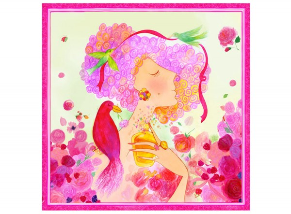 Silk Scarf Pink Paradise Dreams