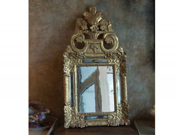 Mirror Gold Palmettes Small from Italy Antique