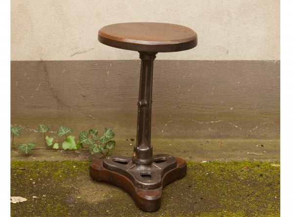 Industrial Stool Oak and Iron
