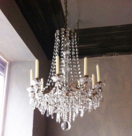 Louis XVI Style Crystal Chandelier with Candles