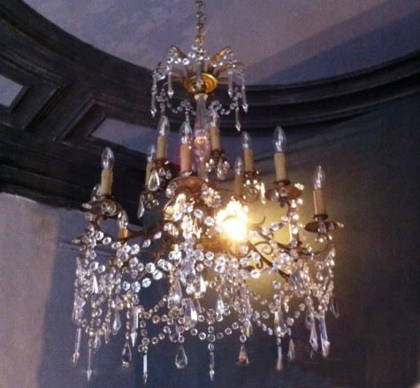 Louis XVI Style Crystal Bronze Chandelier