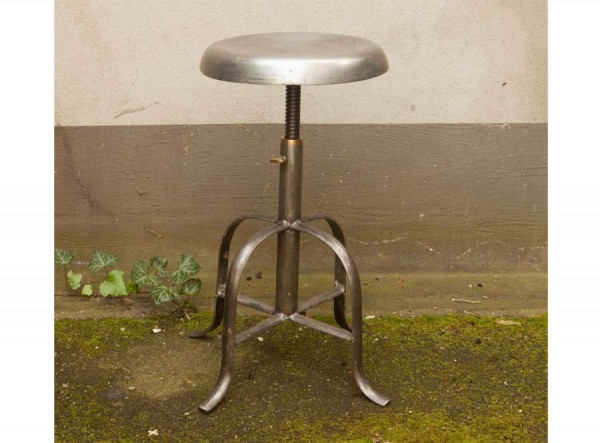 Adjustable Industrial Style Steel Stool Steel