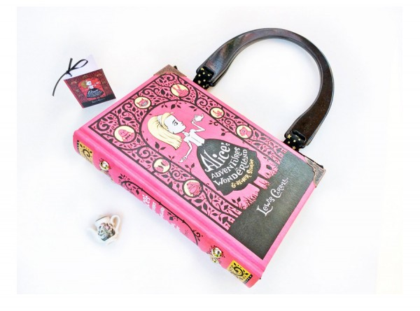 Alice in Wonderland Book Bag Pink - Viintage Edition