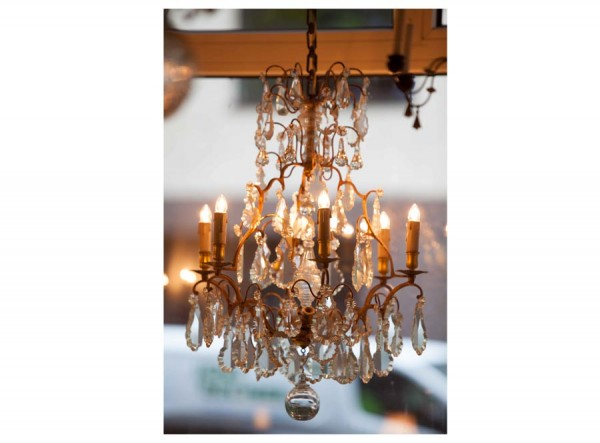 Chandelier Crystal French Antique