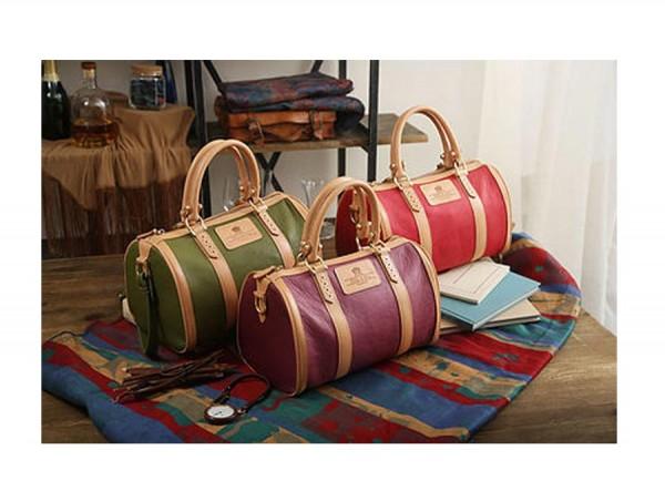 Boston Handbag - Classic British Style Purple