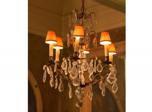 French Crystal Chandelier with Shades
