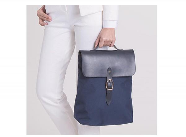 Leather and Nylon Rucksack