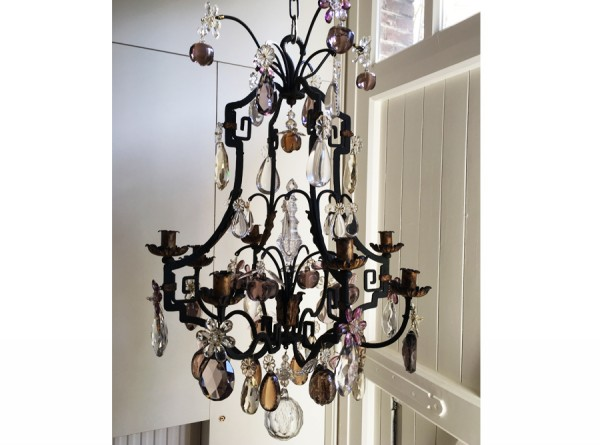 Cage Fruit Chandelier Iron Antique