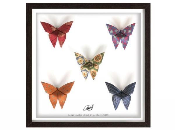 Vintage Silk Buttertie Butterfly Art