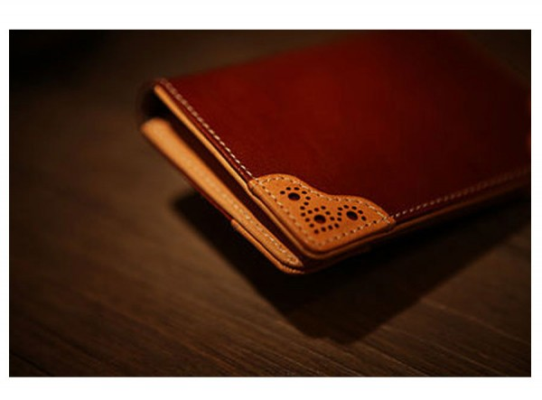 Business Card Holder Brown - Classic British Style