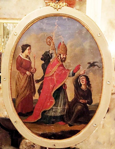 Italian Artwork of Holy Ursmar from Old Church