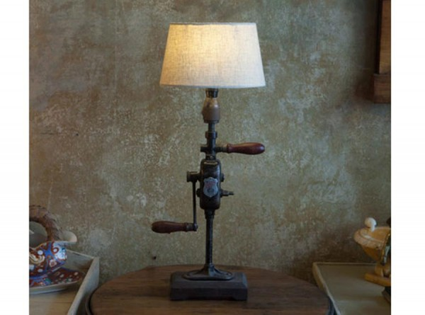 Grey Industrial Lamp