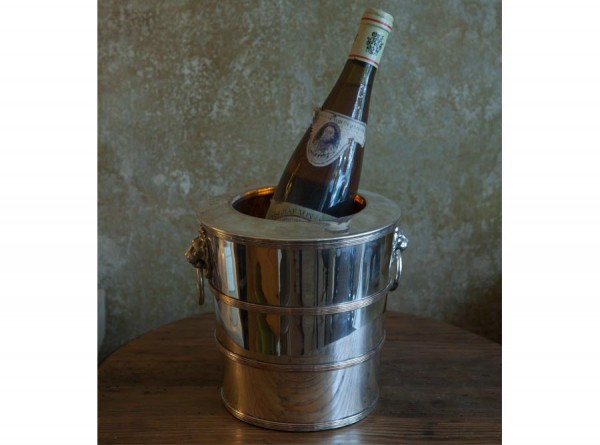 Silver and Copper Lion Champage Cooler