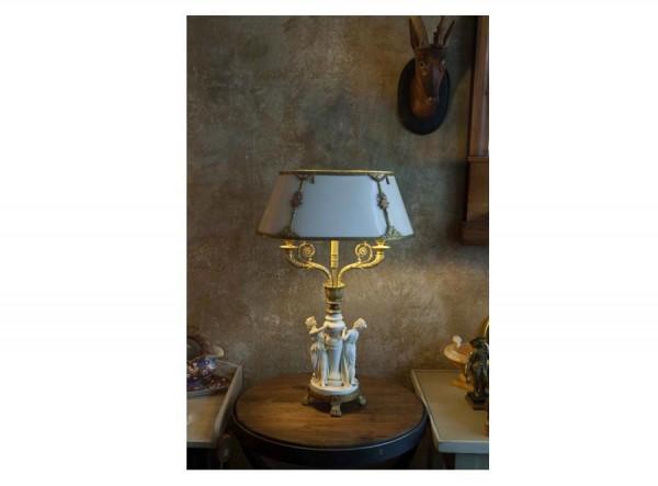 French White Desk Lamp